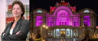 La directora del INBA festeja a Bellas Artes