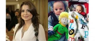 Adriana Sarur debuta como mamá